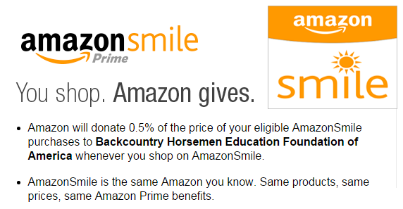 When you shop at AmazonSmile, Amazon donates 0.5% of the purchase price to Backcountry Horsemen Education Foundation of America.